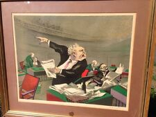 WILLIAM GROPPER Large SENATE HEARING LAWYERS ORIG. HAND SIGNED American art