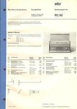Marrón Service repuestos lista para RF-chasis RC 82 RS 11 ts 31 R 22 mm 41 PKG 51