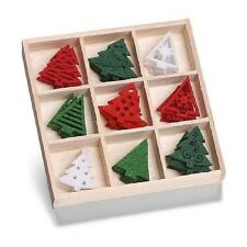 Box of 45 FELT SHAPES ORNAMENTS Christmas Trees 8001 221