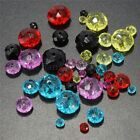 100Pcs Faceted Rondelle Crystal Glass Spacer Beads For Jewelry Findings Making