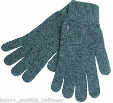 Ralph Lauren Polo Cashmere Gloves Charcoal Made in Scotland