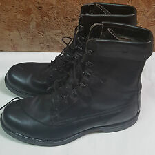 Vintage Cove Shoe Co. Black Leather Military Steel Toe Work Boots Size 11.5 D
