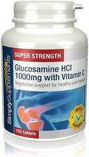 Simply Supplements Vegetarian Glucosamine HCl 1000mg 120 Tablets (E590)
