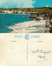 1969 FLAMBOROUGH HEAD & LIGHTHOUSE YORKSHIRE UNUSED COLOUR POSTCARD