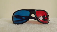 FUN Sports Sunglasses ONE BLUE LENS & ONE RED. BLACK  GLOSS FRAMES