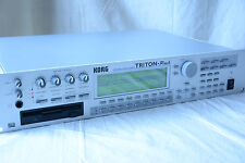 Korg Triton Rack Synthesizer/Sampler Workstation with EXB-SCSI, power supply