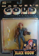 Marvel's Gold Collectors Edition BLACK WIDOW Action Figure 1997 ToyBiz 5.2""