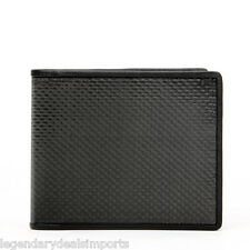 RFID Blocking Genuine Carbon Fiber Wallet Mens Bifold Dual Money Slots US Seller