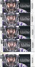Minnesota Vikings Washington Redskins 11/7/13 Ticket Stub Lot (10) Chad Greenway