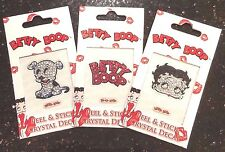 Betty Boop Bling Sparkle Crystal Rhinestones Decal Stickers Set of 3 Phone Car