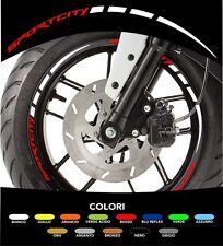 Kit Adesivi Cerchi Moto Ruote Sportcity Aprilia Bicolore 2 colori