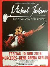 MICHAEL JACKSON - THE SYMPHONY EXPERIENCE - German promo FLYER - KING OF POP