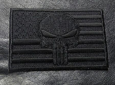 SKULL SWAT POLICE LAW ENFORCEMENT USA FLAG PUNISHER HOOK PATCH