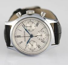 Vintage Jaeger LeCoultre Stainless Steel Chronograph  Wristwatch