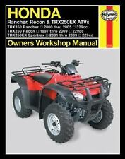 2000-2009 Honda Rancher Recon TRX250EX ATV Haynes Repair Service Manual 7780