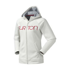 Burton Women's Peak Fleece Hoodie Jacket - Ivory (XL)