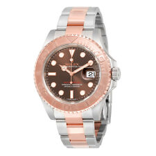 Rolex Yacht-Master Chocolate Dial Steel and 18K Everose Gold Oyster Mens Watch