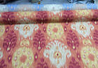 Home Accent IKAT Caf printed Cotton Drapery Fabric Paprika
