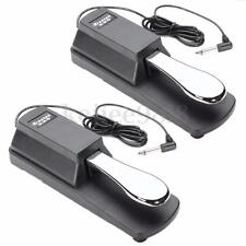 2Pcs Keyboard/Digital Piano Damper/Sustain Foot Pedal for Yamaha HMY Roland Korg