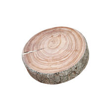 "Tree Trunk Log Floor Cushion Throw Pillow 22"" Round - Photorealistic White Birch"