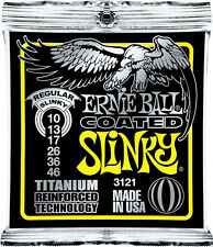 Ernie Ball 3121 Coated Electric Titanium Reg Slinky RPS Guitar Strings 10-46