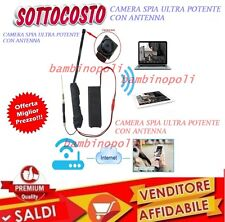 TELECAMERA NASCOSTA HD 1080P MINI WIRELESS WIFI CAM SPIA DVR Video IP P2P