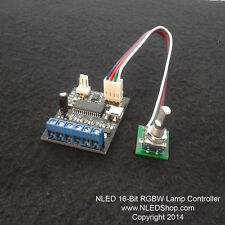 NLED 16-Bit RGBW Lamp Controller - RGB/RGBW, USB, Serial, DMX-512(Model B Only)