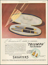 "1947 Vintage ad for Sheaffer's ""Triumph"" Tuckaway Lifetime point Retro.(121516)"