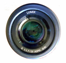 Panasonic Lumix G 25mm f1.7 asph lens in perfect condition