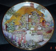 Franklin Mint Lilliput Lane Collector Plate WISHING WELL COTTAGE