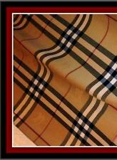 BURBERRY SCARF * Large * Plaid * Cashmere *  Men's Women's Unisex * Beige Brown