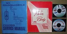 1971 Oldsmobile ORIG! Service Manual 4 Vol SET_442/W-30/Cutlass_S_Supreme/F-85