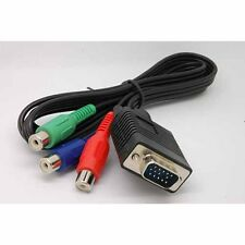 NEW VGA Male to Female RGB Y, Pr, Pb Component Cable PC TV HDTV  adaptor gm
