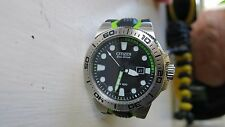 NEW Men's Citizen Eco-Drive SCUBA FIN BN0090-01E Two-Tone Wrist Watch