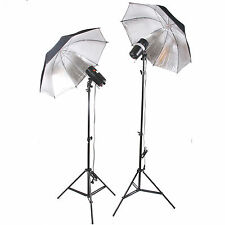 300W 2 x 150W FLASH STROBE WIRELESS umbrella STUDIO LIGHT DSLR Canon NIKON SONY