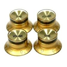 Set of Gold/Gold Top Hat Knob for Gibson Les Paul Guitar HQ