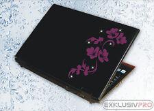 Notebook Laptop Tablet Aufkleber Swarovski Strass Tattoo Blumen Ranke Sticker 21