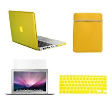 "4 in 1 YELLOW Crystal Case for Macbook Pro 13"" A1425 Retina+Key Cover+LCD+BAG"