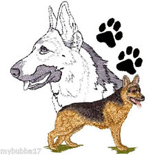 GERMAN SHEPHERD NEW DESIGN SET OF 2 HAND TOWELS EMBROIDERED BY LAURA