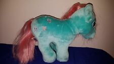 VINTAGE 1986 Hasbro Softies MY LITTLE PONY Bowtie HORSE Plush DOLL Toy COMB HAIR