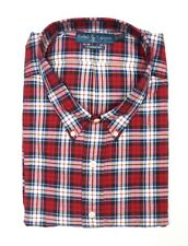 NEW MENS POLO RALPH LAUREN RED MULTI PLAID FLANNEL L/S CASUAL DRESS SHIRT SZ 4XB
