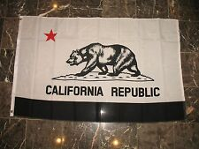3x5 Black and White California Republic Protest Rights Flag 3'x5' Banner