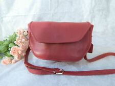 Authentic Vintage COACH- Red Leather --RARE Style COACH --Cross Body--Purse