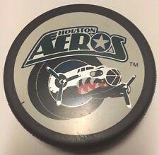 Vintage 1996-2001 Houston Aeros Game Used Hockey Puck IHL