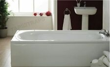 1600MM  WHITE SINGLE ENDED BATH + LEG SUPPORT KIT  **BRAND NEW**
