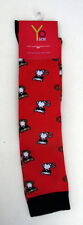 Girls Knee High Socks Size 4-8 Ladies Red Black White Cute Cat in Sunglasses New