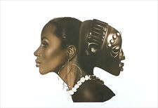 "African American Art  ""Two Beauties"" Afrocentric Print by Henry C. Porter"
