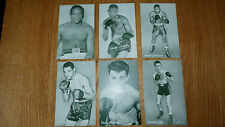 6 Assortiti Vintage Boxing Il reperto carte Constance Saddler Andrews MARTINEZ ryff