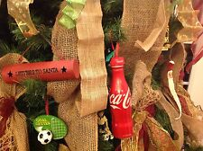 (50) Coca Cola Christmas ornament rubber bottle cap top topper, (New)