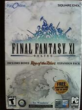 FINAL FANTASY XI Big Box Online Game for PC W/ Expansion Pack RARE COMPLETE VGC